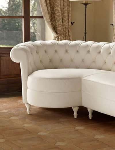 Chaise longue classiche danti divani for Divano sceslong
