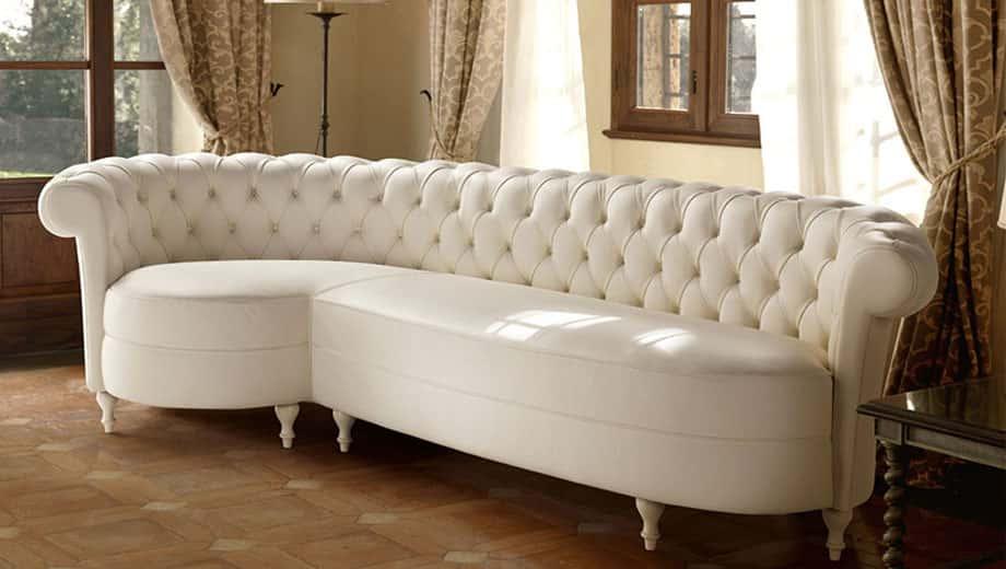Divani classici con penisola danti divani - Copridivano per divano con isola ...