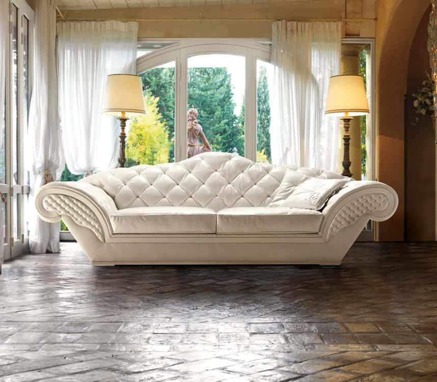 Divani in pelle classici e moderni di danti divani for Divano trapuntato