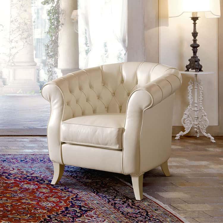 Poltrone in pelle classiche di Danti divani